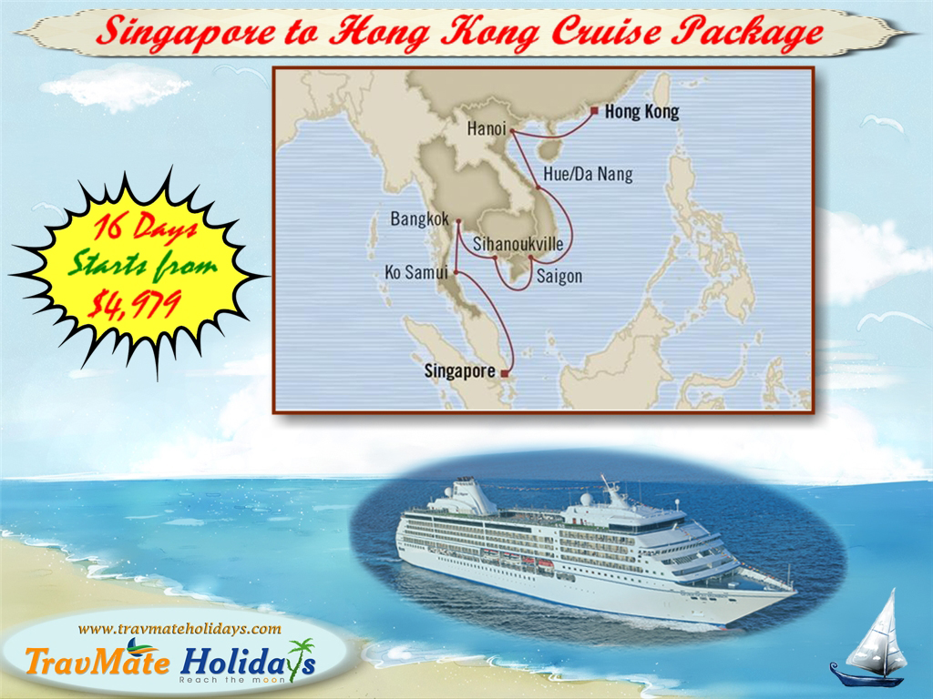 Book Singapore to HongKong Cruise Package from India