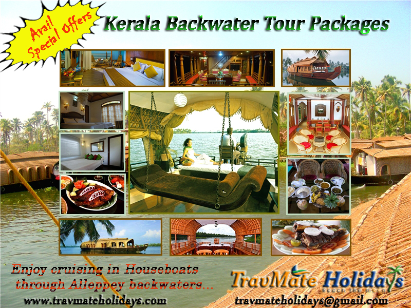 Kerala Tourism - Cheap Kerala Alleppey Backwater HouseBoat Tour Packages